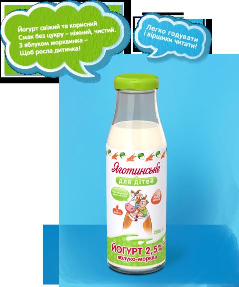 Йогурт «Яблуко-морква»