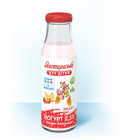 Йогурт «Банан-полуниця»